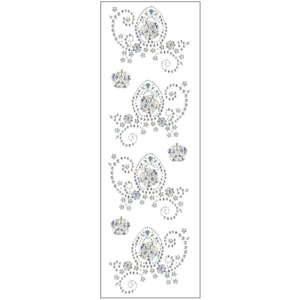Kristallkunst, Osterei-Ornament, 10cm x 30cm, selbstklebend, klar irisierend