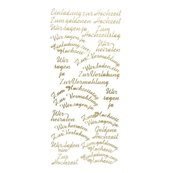 """Sticker """"Einladung zur Hochzeit"""", gold"""