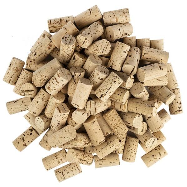 Weinkorken zum Basteln, 4,5cm lang, Ø 2,4cm, hell, 100 Stück