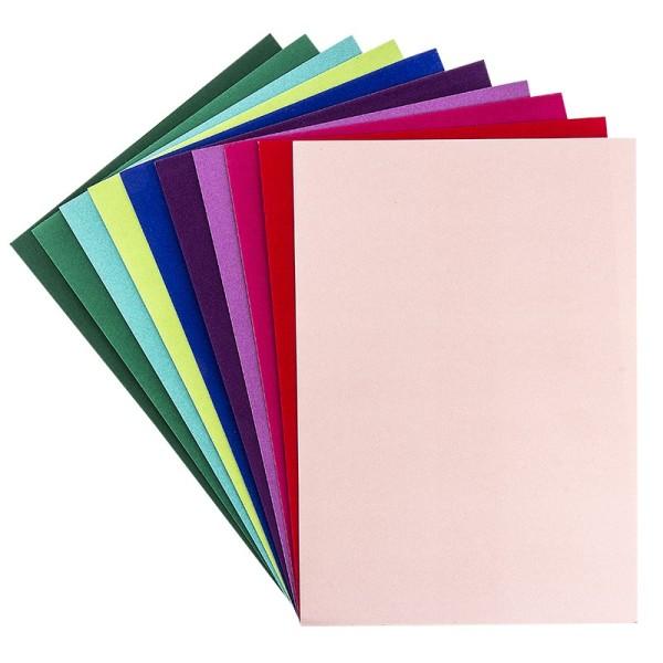Effekt-Karton, Samt, DIN A4, 200 g/m², verschiedene Farben, 10 Bogen