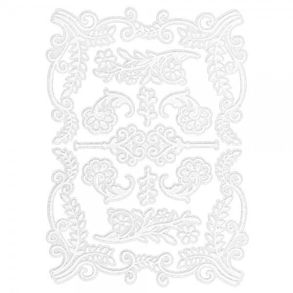 Velours-Stickerbogen, 15cm x 11cm, Ornamentik, Design 13