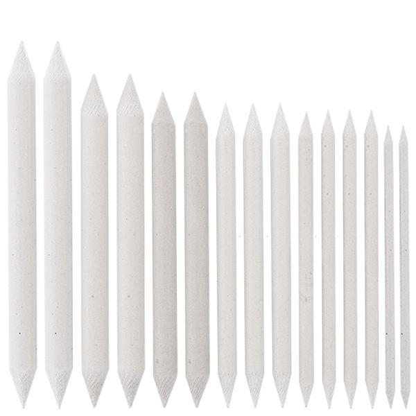 Estompen, Papierwischer, 7 verschiedene Größen, 15 Stück