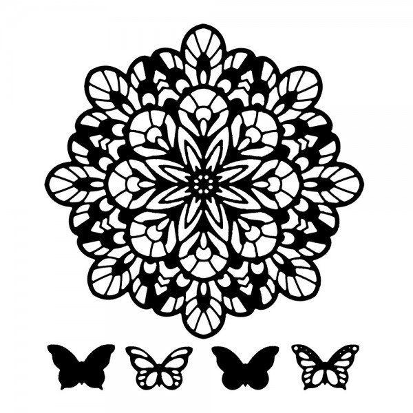 Stanzschablonen, Zierdeckchen & Schmetterlinge 2, 5 Stück