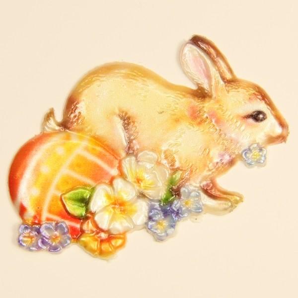 Wachs-Ornament, Hase mit Ei