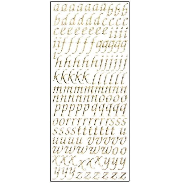 Microglitter-Sticker, Alphabet, Kleinbuchstaben, gold