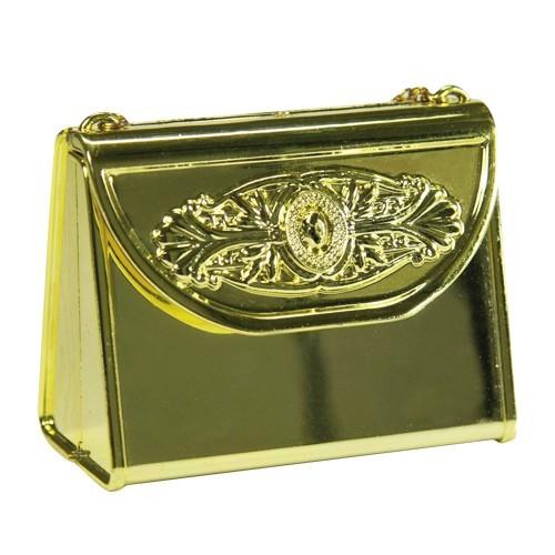 Acryl-Handtasche, opak, 7 x 3,7 x 5,5 cm, gold
