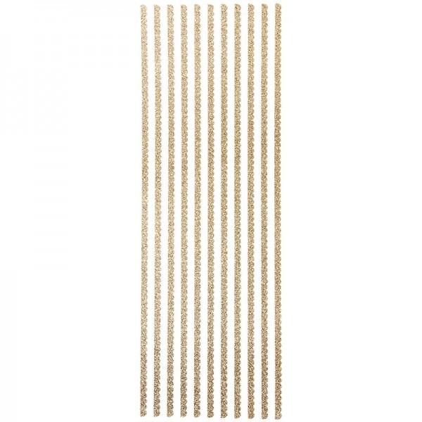 """Glitzer-Bordüren """"Anna"""", Sticker-Linien, 30cm lang, 4mm breit, gold"""