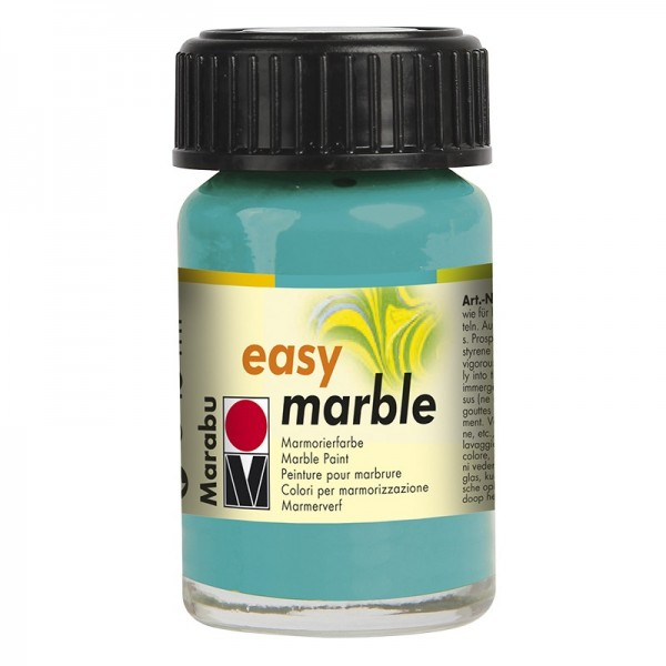 Marmorierfarbe, Marabu easy marble, 15 ml, aquagrün
