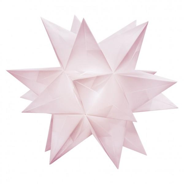 Aurelio Stern Set, transparent, 20cm x 20cm, 33 Blatt, rosa