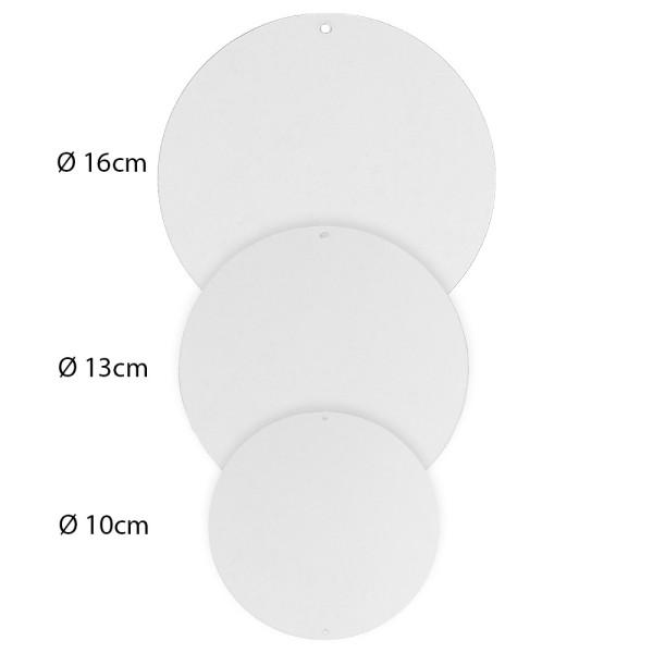 Windradfolien-Scheiben, Kreis,verschiedene Größen, transparent, 500µ, 30 Stück