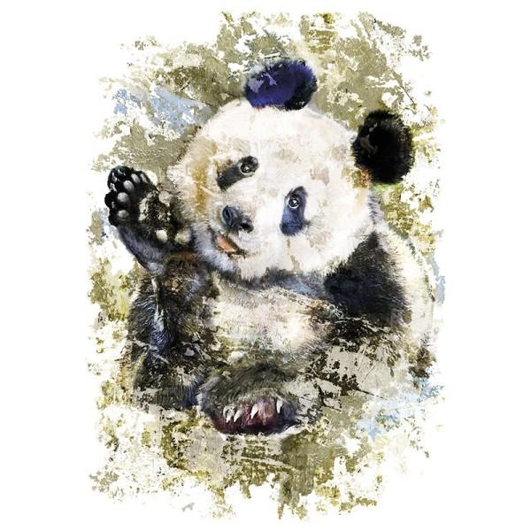Color Bügeltransfers, 23,5cm x 34cm, filigran ohne Hintergund, Panda
