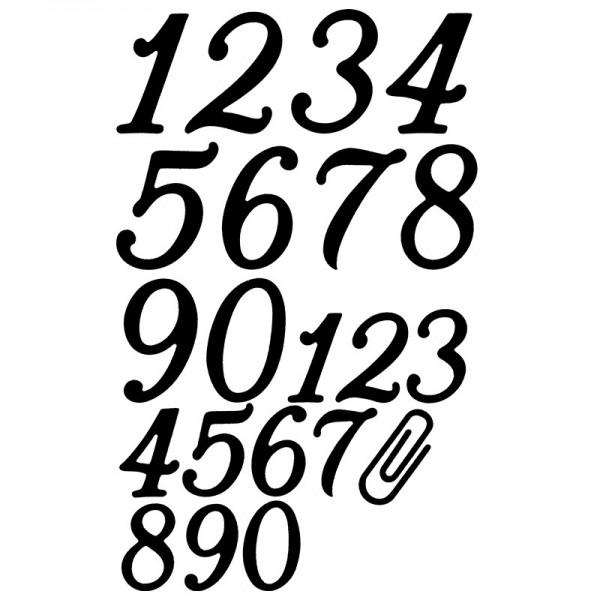 Stanzschablonen, Zahlen groß & klein, 21 Stück