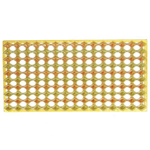 Wachs-Bordüren auf Platte, Rauten-Schmuckstein, 10 Reihen