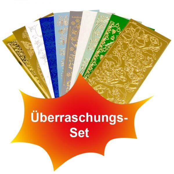 Sticker, Überraschungs-Set, verschiedene Motive, Farben & Folien, 10 Bogen