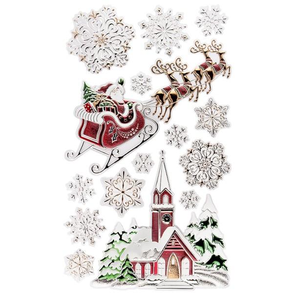 XL Relief-Sticker, Weihnachtsszene 3, 41cm x 24cm