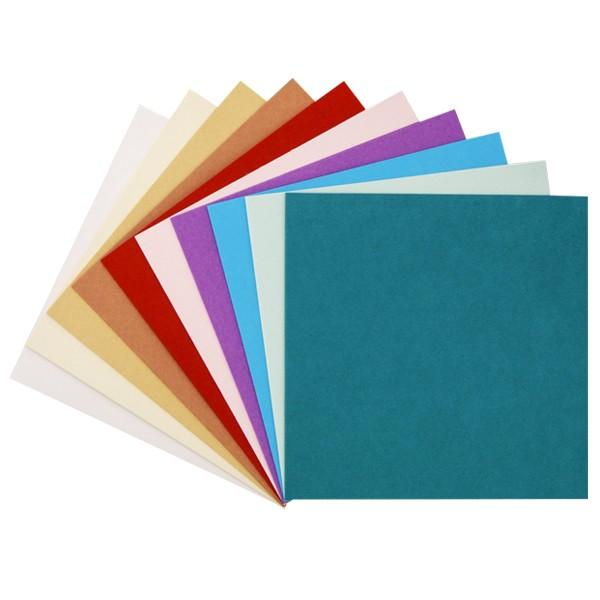 "30er Grußkarten-Set, ""Florida"", 13x13 cm, 10 Farben"