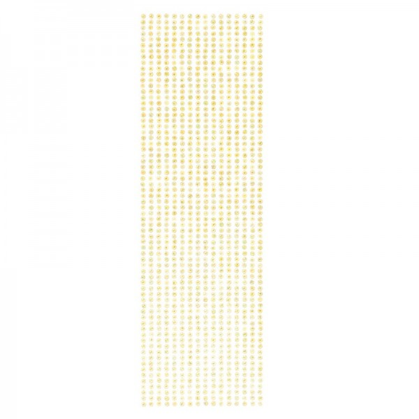 Schmuckstein-Bordüren, selbstklebend, facettiert, irisierend, Ø4mm, 29cm, 16 Stück, gelb