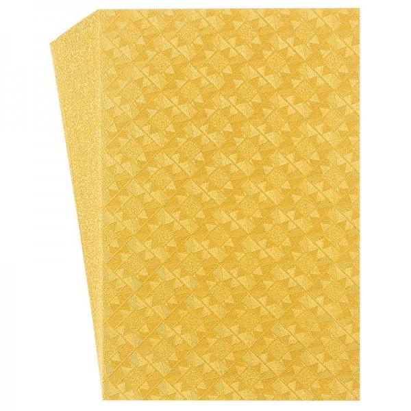 "Faltpapiere ""Nova 23"", 10x15cm, 50 Stück, gold-gelb"