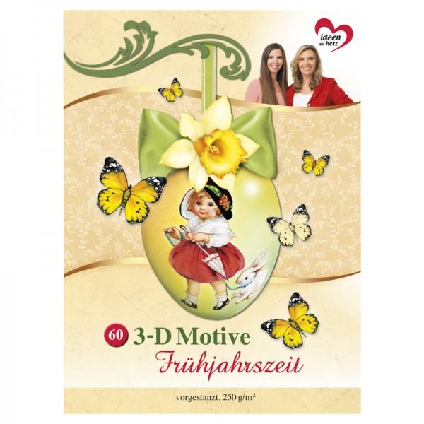 Bastelbuch: Frühjahrszeit 3-D Motive, 60 Motive auf 20 Stanzbogen, DIN A4