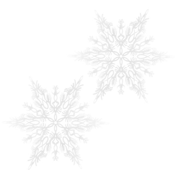 Winter-Deko, Rohling, Schneeflocke 1, Ø 36cm, weiß, 2 Stück