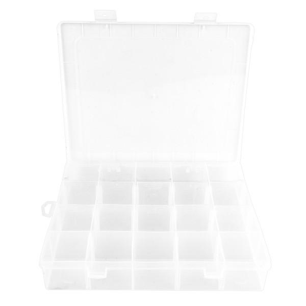 Sortier-/Aufbewahrungsbox, 20 Fächer, 20,8cm x 16,9cm x 4cm