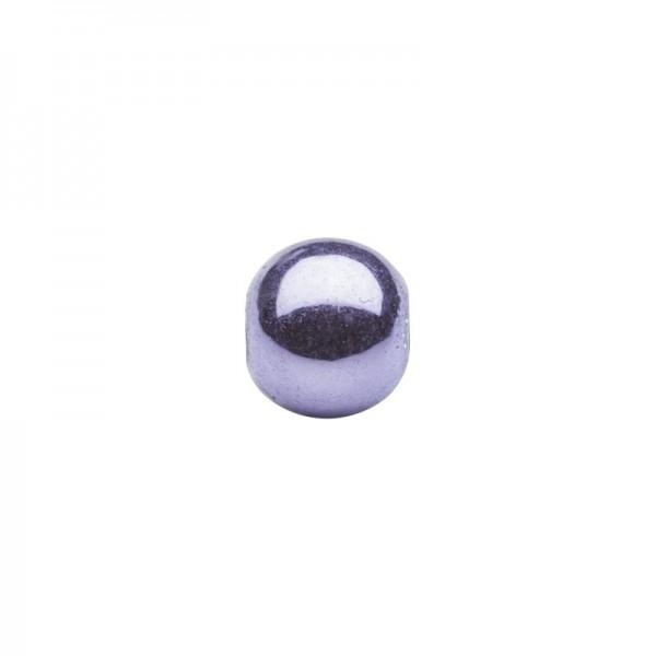 Metallic-Perlen, Ø6 mm, 50 Stück, violett