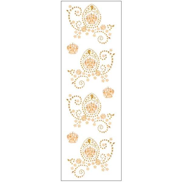 Kristallkunst, Osterei-Ornament, 10cm x 30cm, selbstklebend, lachs irisierend, lachs gefrostet