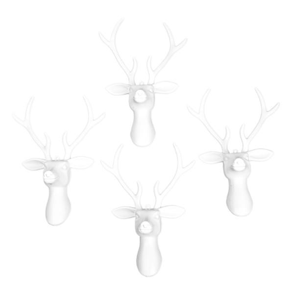 Deko-Hirschköpfe 2, Rohlinge, 15,5cm x 21,5cm, 4 Stück