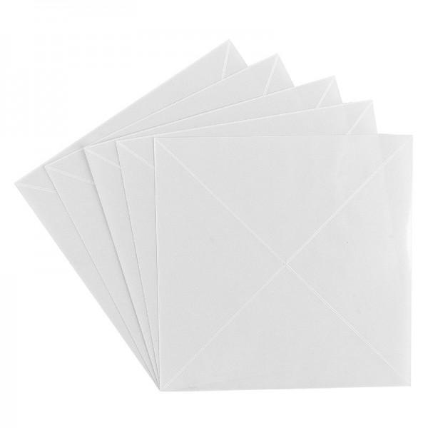 Klebetäschchen, klar, dreieckig, 10 cm, 20 Stück