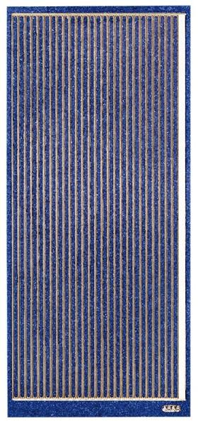Microglitter-Sticker, Linien, 3,5mm, blau