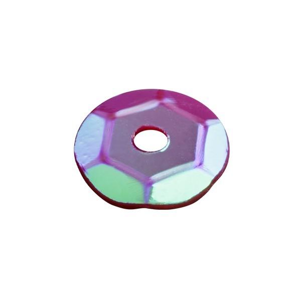 Pailletten, irisierend, 15 g, Ø6 mm, dunkelmagenta