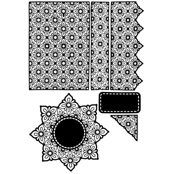 Stanzschablonen, Zierdeckchen & Bordüren, 6 Stück