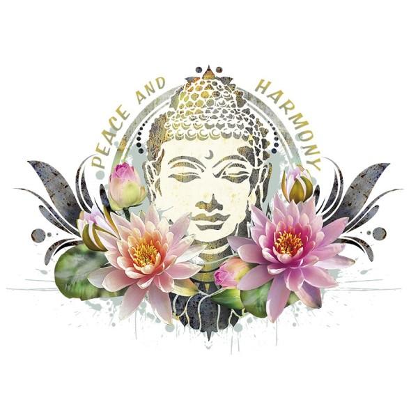 Color Bügeltransfers, DIN A4, Buddha