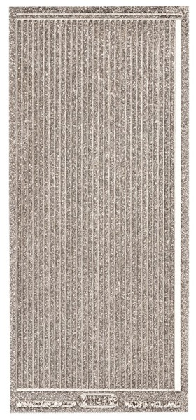 Microglitter-Sticker, Linien, 3,5mm, silber