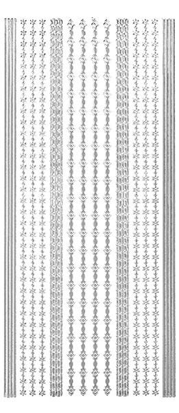 Sticker, Linien und Bordüren, silber