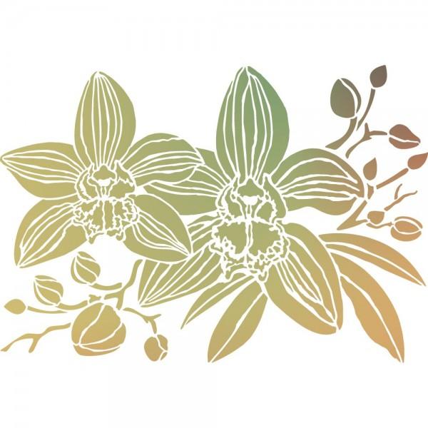 Folien-Bügeltransfer, Orchideen 1, DIN A4, gold