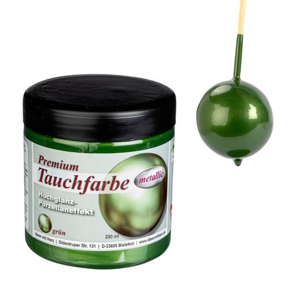 Premium-Tauchfarbe, metallic, grün, 250ml