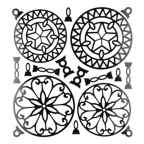 Kugel-Sticker, Weihnachten, Design 4, 23cm x 20cm, schwarz