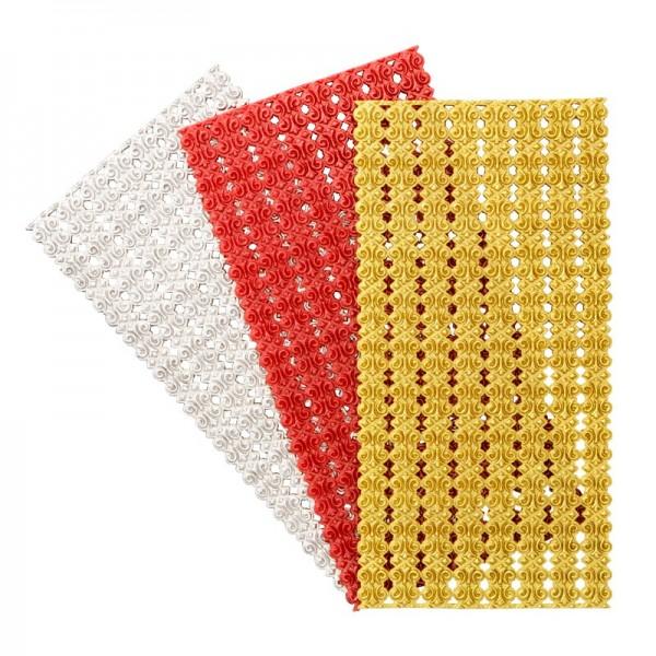 Wachs-Bordüren auf Platte, Doppelkreis, 24 Stück