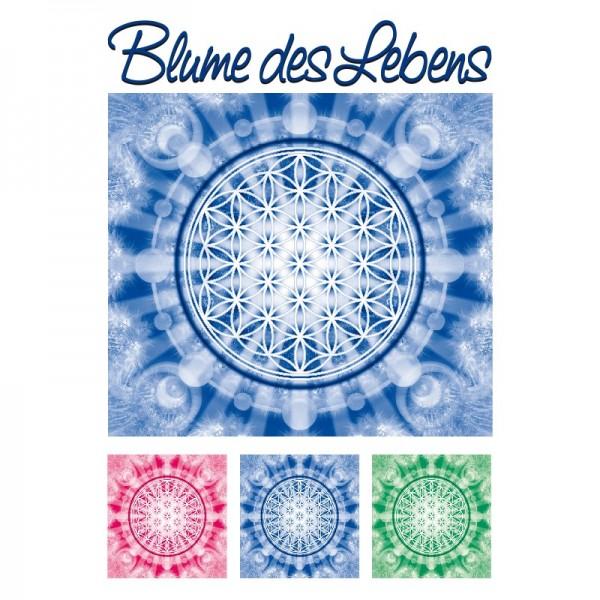 Color Bügeltransfers, DIN A4, Blume des Lebens