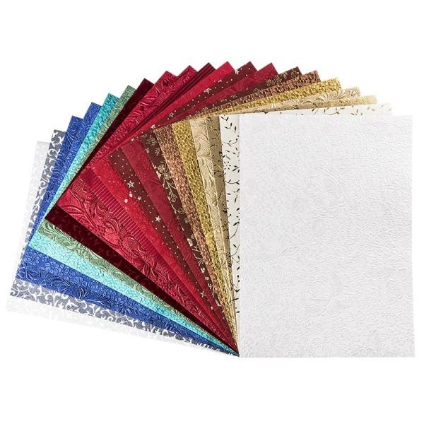 Naturpapiere, India Kollektion, DIN A4, Block mit 20 Blatt, Sortierung 1