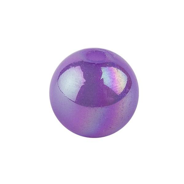 Perlen, irisierend, Ø 6mm, violett-irisierend, 150 Stk.