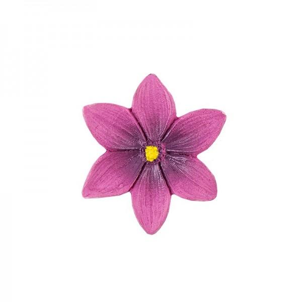 Relief-Blüten, pink, 20 Stück