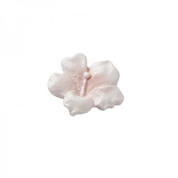 Steinharz-Blüten, Relief, rosa, 20 Stück