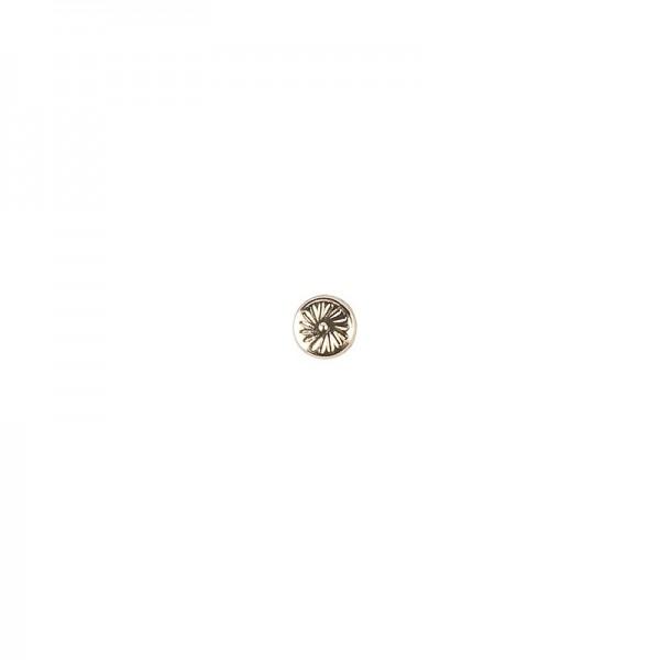 Hot-Fix Metallic-Relief-Nieten 1 zum Aufbügeln, Ø 4mm, gold, 200 Stück