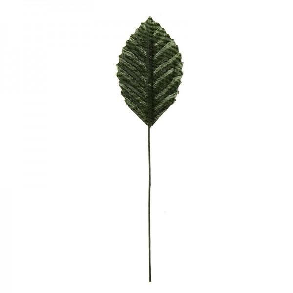 Deko-Blätter am Draht, 4,5cm x 2,8cm, grün, 20 Stück