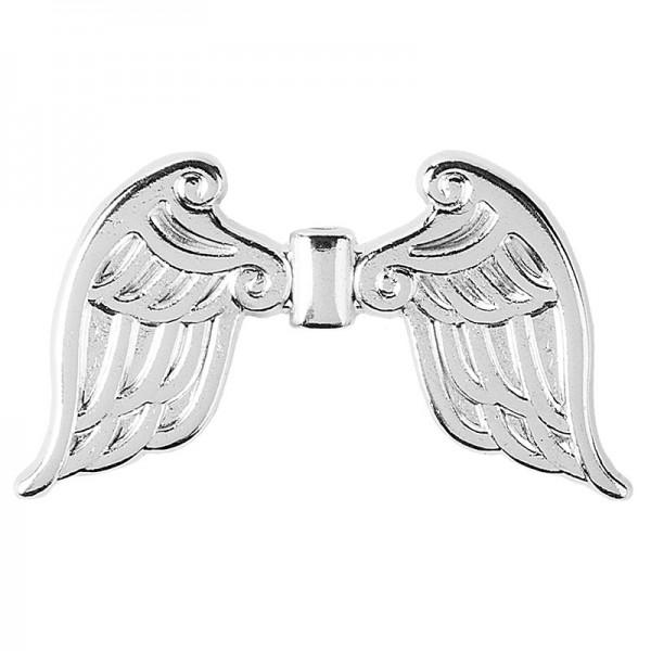 Engelsflügel, Design 4, 3,7cm, silber, 10 Stück