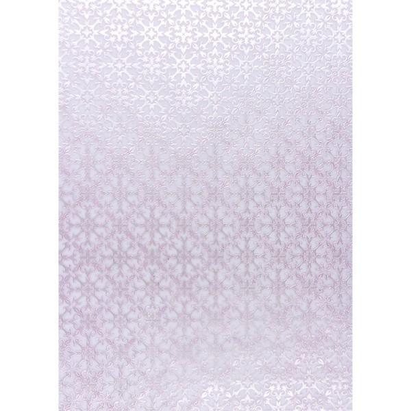 Transparentpapiere, Nova Noblesse 8, mit Top-Prägung & Perlmuttlack, DIN A4, 5 Bogen, rosé