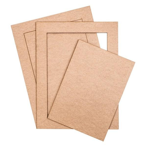 Deko-Rahmen & Kreativplatten, Rohlinge, 2 Rahmen, 2 Platten, 35cm x 25cm
