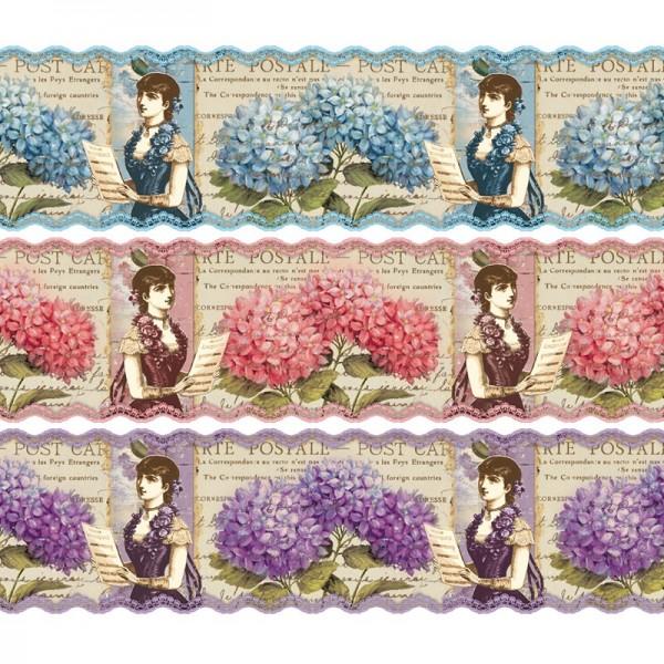 """Zauberfolien """"Hortensien"""", Schrumpffolie für Ø8cm, 7,5cm hoch, 6 Stück"""